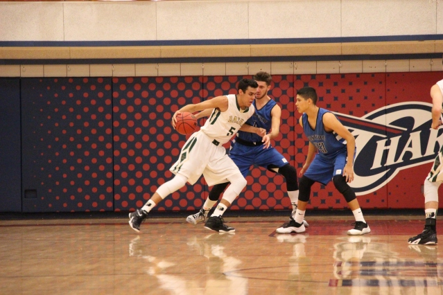Klay Stall backs down a Westview defender (Photo by Dom Cotroneo)