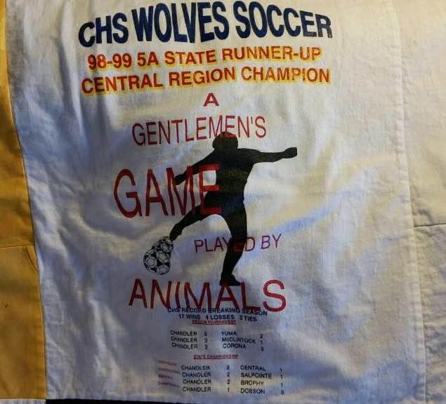 A shirt commemorating 1999 Chandler's Region Championship and runner-up season.